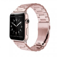 Simpeak Stainless Steel Band Strap for Apple Watch 38mm Series 1 Series 2 -Series 3