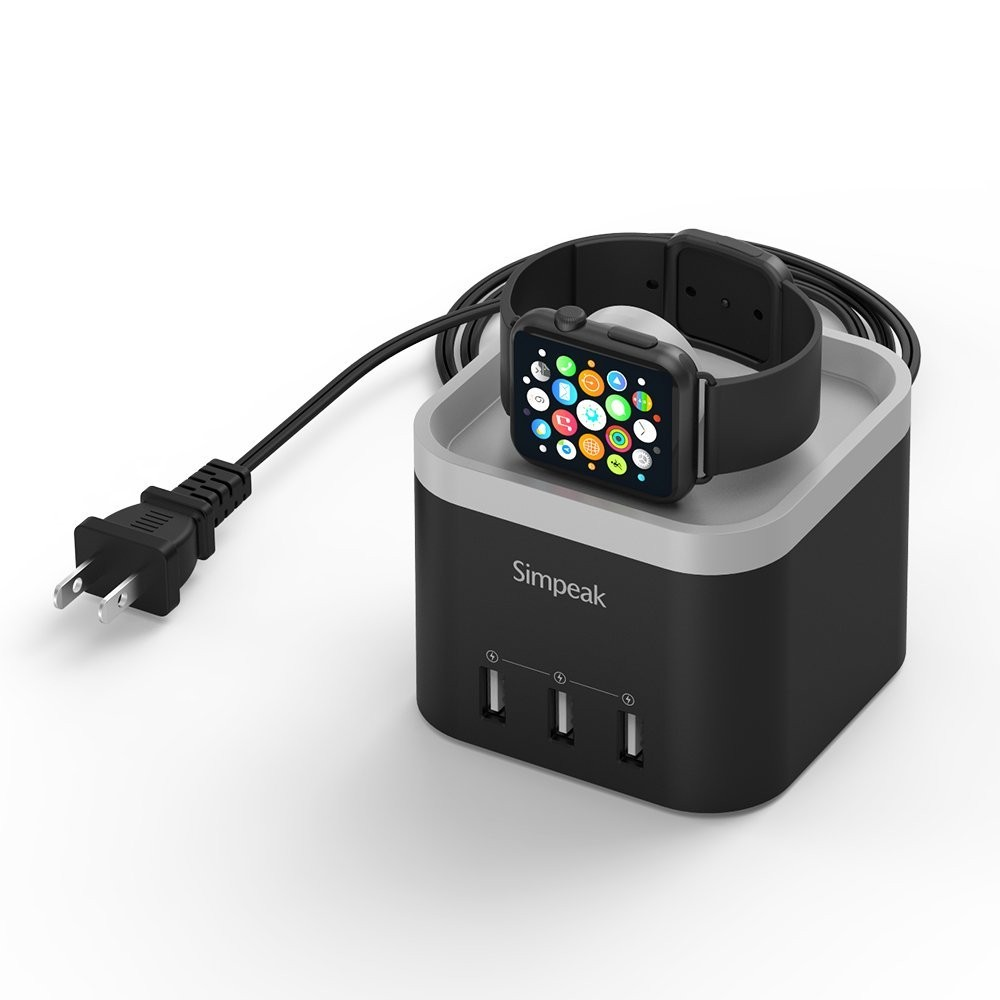 f176207eacf3 Apple Watch Dock Station, iWatch Charging Stand, Simpeak 4-Port ...