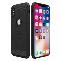 iPhone X Case, Simpeak Premium Rugged Protector Back Case for iPhone X[Drop Protection] [Anti Slip] [Scratch Resistant], Black
