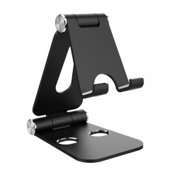 Adjustment Phone and Tablet Stand, Simpeak Aluminum Universal Dual Foldable Stand Video Game Holder Dock for iPhone 6 7 8 Plus, iPhone X, iPad, Nintendo Switch, Multi-Angle Playstand