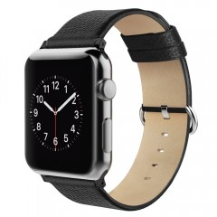 Apple Watch Strap 42mm, Simpeak Genuine Leather Replacement Strap Band for Apple Watch 42mm Series 1/2/3 Version 2015 2016 2017 (Adaptors Included)