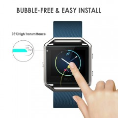 Fitbit Blaze Screen Protector, [3 Pack] Simpeak Premium Tempered Glass Film Screen Protector for Fitbit Blaze Smart Watch [9H Hardness] [Bubble Free] [Anti-fingerprint]