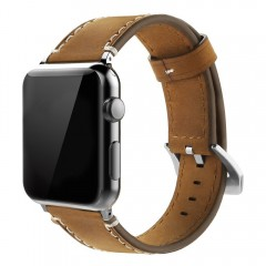 Apple Watch Band 42mm, Simpeak Genuine Leather Replacement Strap for Apple Watch 42mm Series 1/2/3
