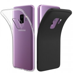 Galaxy S9+ Case Clear, S9 Plus Case Black, [2 pack] Simpeak Premium Rugged Protector Case and Clear Slim TPU Case for Samsung Galaxy S9 Plus 2018 [Drop Protection] [Anti Slip] [Scratch Resistant]