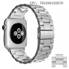 [New Release] Apple Watch Band 42mm (44mm Series 4) ,Simpeak Stainless Steel Band Strap for Apple Watch 42mm Series 4 / 3 / 2 / 1- Silver