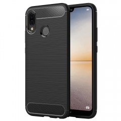 Simpeak Huawei P20 Lite Case, Premium Rugged Protector Back Case for Huawei P20 Lite [Drop Protection] [Anti Slip] [Scratch Resistant], Black
