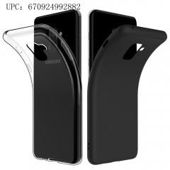 Simpeal Cover per Samsung Galaxy A8(2018)/ Samsung A5 2018 (Confezione da 2) Nero + Trasparente, Custodia Samsung Galaxy A8 in TPU Silicone,Cover Samsung A8